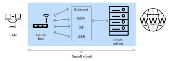 How Squall Cloud Service Works