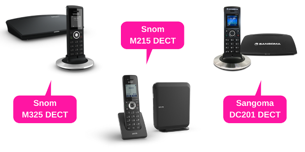 DECT solutions from Snom and Sangoma
