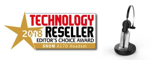 Award For A170 Headset From Snom